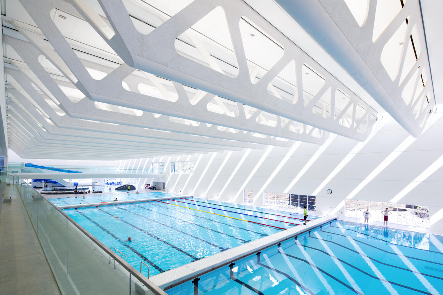 Guildford aquatic centre shape architecture for Pool design vancouver